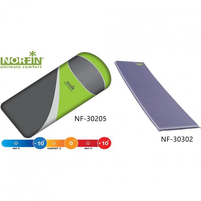 Комплект : спальный мешок-одеяло SCANDIC COMFORT и самонадувающийся коврик ATLANTIC NF-30205K1