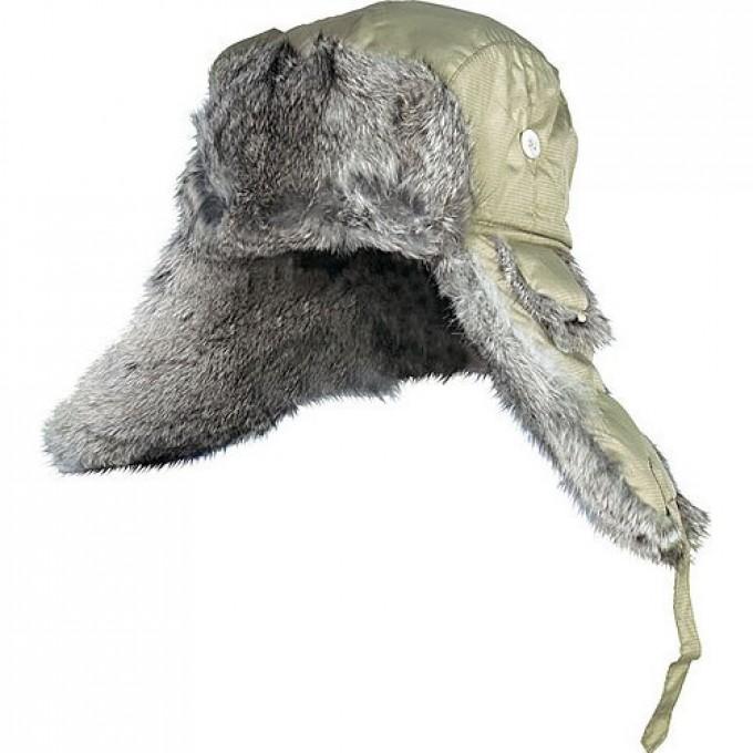 Шапка-ушанка  ARDENT оливковый меховой кролик р.XL 302764-XL