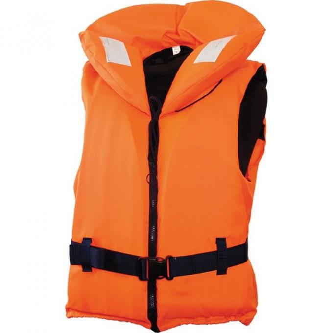 Жилет спасательный с воротником на молнии  100N10-20кг оранжевый 100N-10-20