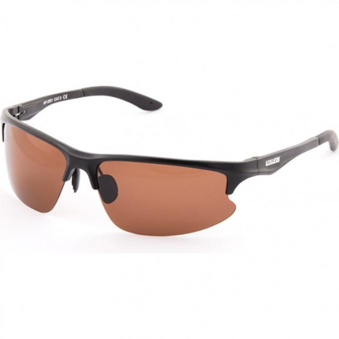 Очки поляризационные  линзы коричневые оправа алюминий 01 NF-2001