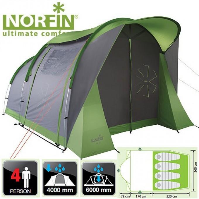 Палатка 4-х местная  ASP 4 ALU NF NF-10304