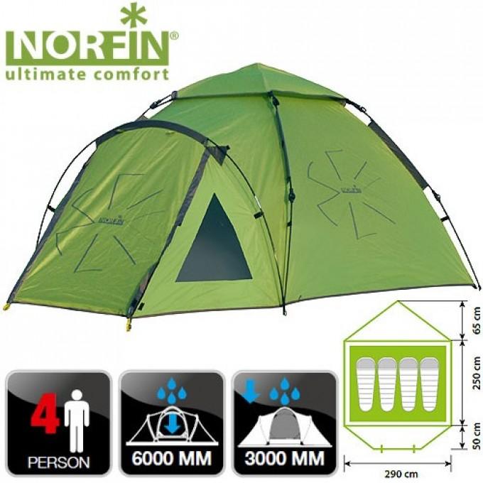 Палатка автоматическая 4-х местная  HAKE 4 NF NF-10406